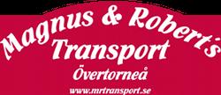 reklamplats för magnus och robers transport